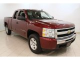 2009 Deep Ruby Red Metallic Chevrolet Silverado 1500 LT Extended Cab 4x4 #56014044
