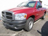 2008 Inferno Red Crystal Pearl Dodge Ram 1500 ST Regular Cab #56013614