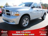2012 Bright Silver Metallic Dodge Ram 1500 Express Quad Cab #56013608