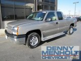 2003 Light Pewter Metallic Chevrolet Silverado 1500 LT Extended Cab 4x4 #56087386