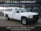2008 Summit White Chevrolet Silverado 1500 Work Truck Regular Cab 4x4 #56086977