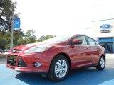 2012 Red Candy Metallic Ford Focus SEL Sedan #56086964