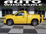 2004 Solar Yellow Dodge Ram 1500 SLT Rumble Bee Regular Cab #56087304