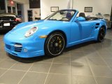 2012 Paint to Sample Bright Blue Porsche 911 Turbo S Cabriolet #56086905