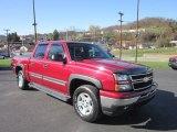 2006 Sport Red Metallic Chevrolet Silverado 1500 Z71 Crew Cab 4x4 #56087570