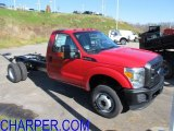 2012 Vermillion Red Ford F350 Super Duty XL Regular Cab 4x4 Chassis #56086851