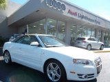 2008 Ibis White Audi A4 2.0T Cabriolet #56156614
