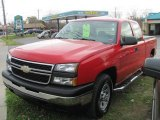 2006 Sport Red Metallic Chevrolet Silverado 1500 LS Extended Cab 4x4 #56189381