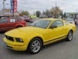 2005 Screaming Yellow Ford Mustang V6 Deluxe Coupe #56189379
