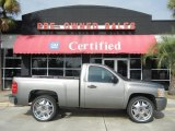 2007 Graystone Metallic Chevrolet Silverado 1500 Work Truck Regular Cab #56188925
