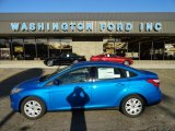 2012 Blue Candy Metallic Ford Focus SE Sedan #56189133