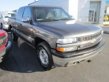 2002 Medium Charcoal Gray Metallic Chevrolet Silverado 1500 LS Extended Cab 4x4 #56188828