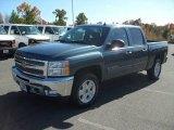 2012 Blue Granite Metallic Chevrolet Silverado 1500 LT Crew Cab 4x4 #56189295
