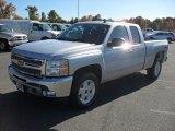2012 Silver Ice Metallic Chevrolet Silverado 1500 LT Extended Cab #56189294