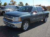 2012 Blue Granite Metallic Chevrolet Silverado 1500 LT Crew Cab #56189290