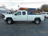 2007 Summit White GMC Sierra 2500HD SLT Extended Cab 4x4 #56189284