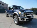 2012 Dark Blue Pearl Metallic Ford F250 Super Duty Lariat Crew Cab 4x4 #56189065