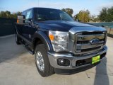 2012 Dark Blue Pearl Metallic Ford F250 Super Duty Lariat Crew Cab 4x4 #56189064
