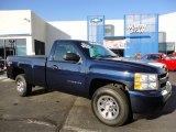 2010 Imperial Blue Metallic Chevrolet Silverado 1500 LS Regular Cab 4x4 #56231096