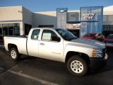 2012 Silver Ice Metallic Chevrolet Silverado 1500 Work Truck Extended Cab #56231092