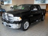 2012 Black Dodge Ram 1500 Laramie Longhorn Crew Cab 4x4 #56231447
