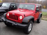 2012 Flame Red Jeep Wrangler Sport S 4x4 #56231392