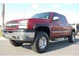 2004 Sport Red Metallic Chevrolet Silverado 1500 Z71 Crew Cab 4x4 #5611065