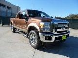 2012 Golden Bronze Metallic Ford F250 Super Duty Lariat Crew Cab 4x4 #56275253