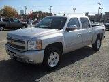 2011 Sheer Silver Metallic Chevrolet Silverado 1500 LT Crew Cab 4x4 #56275543