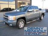 2007 Blue Granite Metallic Chevrolet Silverado 1500 LT Z71 Crew Cab 4x4 #56275468