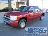 2007 Sport Red Metallic Chevrolet Silverado 1500 LT Crew Cab 4x4 #56275466