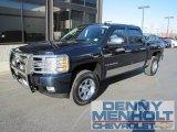 2008 Dark Blue Metallic Chevrolet Silverado 1500 LTZ Crew Cab 4x4 #56275464