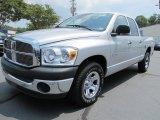 2008 Bright Silver Metallic Dodge Ram 1500 SXT Quad Cab #56275829