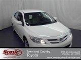2011 Super White Toyota Corolla LE #56275450