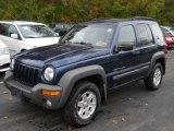 2002 Patriot Blue Pearlcoat Jeep Liberty Sport 4x4 #56349036