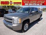 2009 Graystone Metallic Chevrolet Silverado 1500 LS Crew Cab #56348988