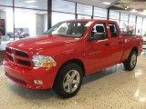 2012 Flame Red Dodge Ram 1500 Express Quad Cab 4x4 #56348971