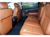 2012 Toyota Tundra Platinum CrewMax 4x4 Limited Rear Seats in Red Rock Leather
