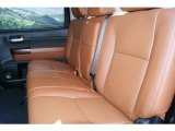 2012 Toyota Tundra Platinum CrewMax 4x4 Limited Rear Passengers Seats in Red Rock Leather
