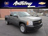 2011 Steel Green Metallic Chevrolet Silverado 1500 Crew Cab 4x4 #56398504