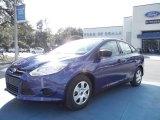 2012 Sonic Blue Metallic Ford Focus S Sedan #56397923