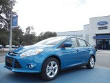 2012 Blue Candy Metallic Ford Focus SE Sport Sedan #56397921