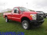 2012 Vermillion Red Ford F250 Super Duty XL Regular Cab 4x4 #56397779