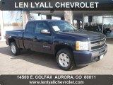 2009 Imperial Blue Metallic Chevrolet Silverado 1500 LT Extended Cab 4x4 #56397943