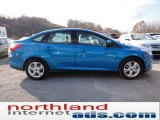 2012 Blue Candy Metallic Ford Focus SE Sport Sedan #56451516