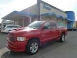 2004 Flame Red Dodge Ram 1500 SLT Sport Quad Cab 4x4 #56451735