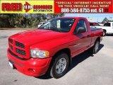 2005 Flame Red Dodge Ram 1500 SLT Regular Cab #56451733