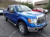 2011 Blue Flame Metallic Ford F150 XLT SuperCab 4x4 #56451565