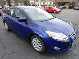 2012 Sonic Blue Metallic Ford Focus SE Sedan #56451563