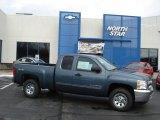 2012 Blue Granite Metallic Chevrolet Silverado 1500 LS Extended Cab 4x4 #56481169